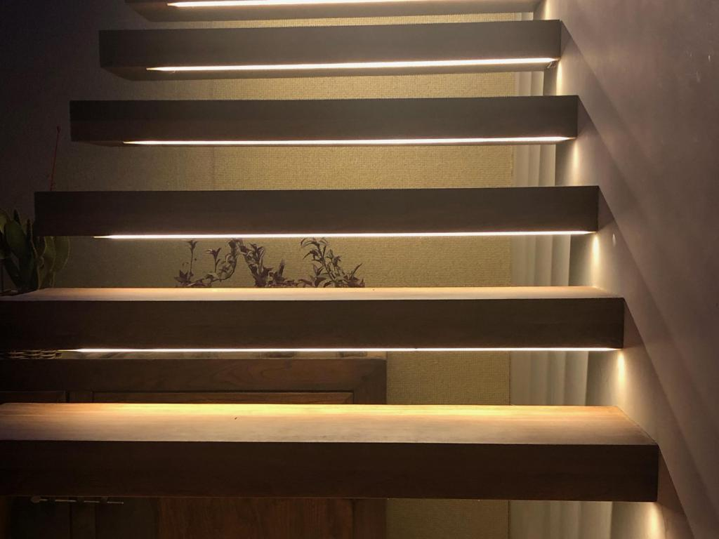 - Led strips in staircase