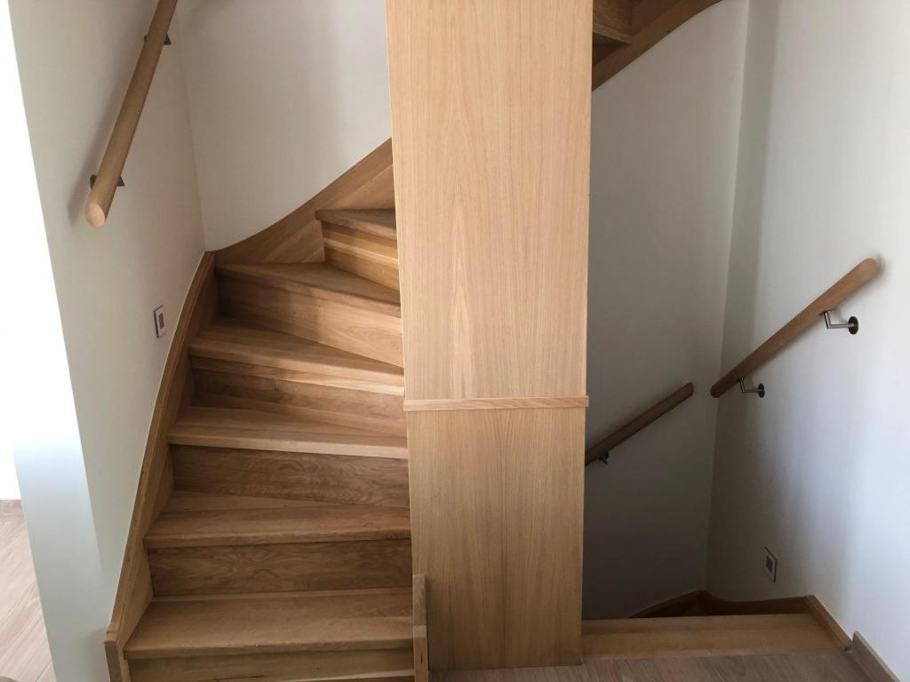 - Varnished staircase
