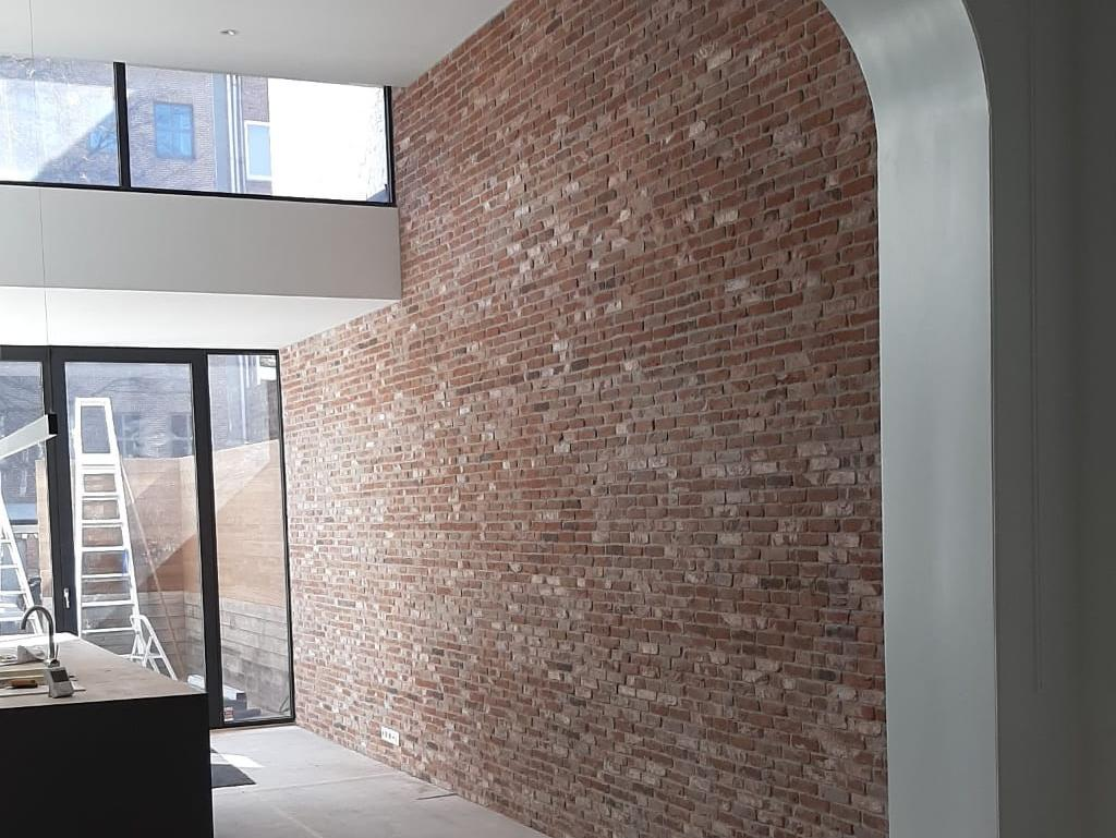 - Finished wall