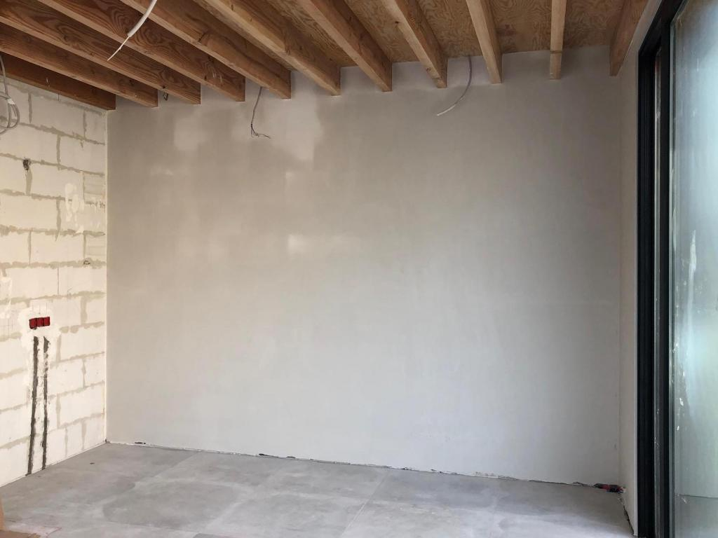 - Finished walls